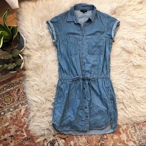 Paige Chambray Button Front Dress